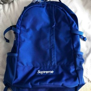 Supreme SS18 Backpack; Royal